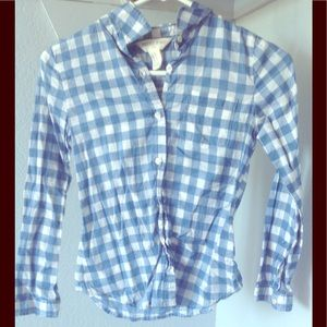Other - Blue and white plaid shirt